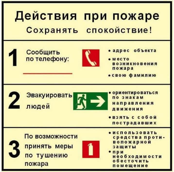 Правила поведения, которые спасут Вам жизнь при пожаре