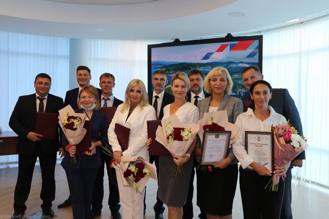 Сотрудники нефтепорта Козьмино отмечены наградами в честь Дня работников нефтяной и газовой промышленности